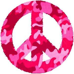30 Custom Pink Camo Peace Symbol Personalized Address Labels