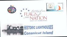 Flags of our Nation - Rhode Island (Sc. 4319) Conanicut Island Lighthouse