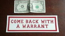 "HELLS ANGELS SUPPORT STICKERS ""WARRANT bumper"