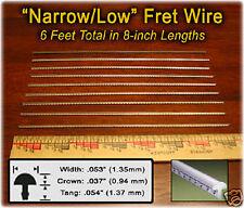 Mando/Uke Fretting Kit: 6ft NARROW/LOW Fret Wire + Fretting Guide on CD 12-01-01