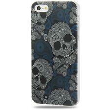 BUMPER CUSTODIA COVER X APPLE IPHONE 5 5s SE fashion teschio Skull Crystal case