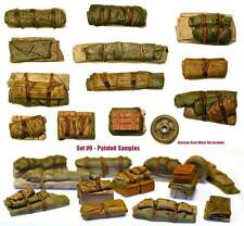 1/35 Universal Tents Tarps & Crates #9 - Value Gear Details - Resin Stowage