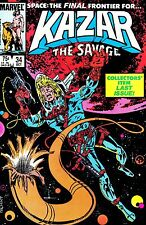 1984 Marvel  Kazar The Savage Space: The Final Frontier for Last Comic Issue #34