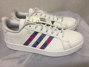 Adidas Grand Court - Women's  White Sneaker Medium Size 8