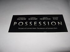 2002 POSSESSION PREMIERE SCREENING MOVIE TICKET - GWYNETH PALTROW AARON ECKHART