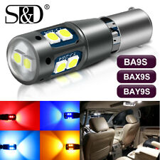 Canbus BA9S BAX9S BAY9S 3030 10 SMD LED Car Interior Dome Map Mirror Light Bulb