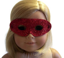 """Red Glitter Halloween Mask made for 18"""" American Girl Doll Clothes Accessories"""