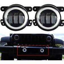 2 Pcs Faro LED 4'' 30w Fendinebbia Per Jeep Jk Tj Wrangler