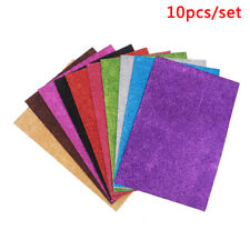 10Pcs random Diy Card A4 Sheets Fixed Glitter Single Sided Craft Glitter PaperDS