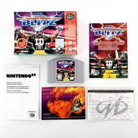 NFL Blitz (Nintendo 64, 1997) Authentic Complete In Box w/ Poster Tested & Works
