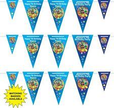 Personalised Grossery Gang Birthday Bunting 3m-15 pendants, name/age