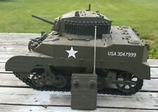 Stuart M5 21st Century Huge battle tank 1:6 Working R/C New BatteryCharger
