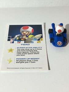 Toad Replacement Piece for Monopoly Gamer Nintendo Mario Kart Car Token & Card