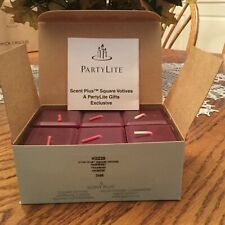 Partylite rare and retired Scentplus Raspberry Square Votives
