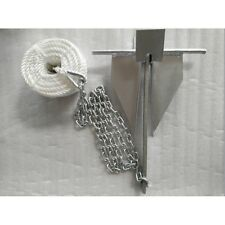 Boatworld 3.5kg Danforth Anchor Kit for Sports Boats/RIBs 2mts chain 8mm rope