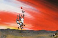 AFL Outback Aussie Rules Grand Final Art Painting Print COA Authentic andy baker