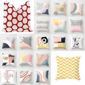 18'' Geometric Wasit Cushion Covers Throw Pillow Cases Home Sofa Decor Square