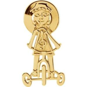 14k Yellow Gold Little Red Tricycle Lapel Pin