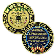 Police Sheriff Prayer Challenge Coin Blue Lives Matter Peace Maker Collectible