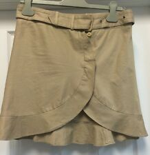 Costume National Beige Wrap Skirt With Belt Sz 42 Italy Size 4