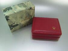 Rolex Box Uhrenbox rot vintage für Damenuhren mit Umkarton Ladies Watch Box Etui