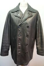 MAN'S CALVIN KLEIN NAPPA LEATHER DOUBLE BREASTED PEA COAT JACKET SIZE L