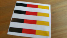 Bandera Alemana Alemania x4 Racing Rayas Pegatina de Coche Van Caravana Moto 10x2cm