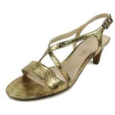 Gold Metallic Heel Sandals Size 8.5 Pumps Franco Sarto