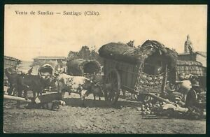 Mayfairstamps Chile Santiago Venta De Sandias Postcard wwp73099