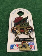 Peter David Super Bowl XXI Broncos vs Giants Hanging Champs Large Collector Pin!
