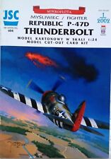 North American Fighter Plane P-47D Thunderbolt Paper Cardboard Model Scale 1:24