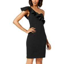 Calvin Klein Women's Black One Shoulder Cocktail Dress Size 6