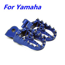 Blue Aluminum Studed Footrest Foot Peg Pedal for Yamaha WR YZ YZF 125 85 250F450
