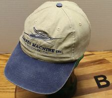BARNES MACHINE INC A COMPASS COMPANY HAT BEIGE & BLUE ADJUSTABLE GOOD CONDITION