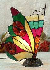 Schmetterling Bernsteinlampe Tischlampe Edelstein Lampe Bernstein Tiffany Deko