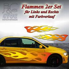 Aufkleber Sticker Tuning Styling Autotattoo Flamme mit verlauf 50 cm 2erSet V18