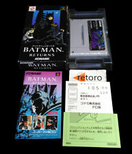 BATMAN RETURNS Super Famicom Nintendo SNES SFC JAP Complete Konami