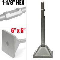 "Dirt Soil Tamper Plate for 1-1/8"" Shank Demolition Concrete Breaker Jack hammer"