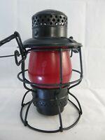 Vintage Adlake Railroad Lantern Red Globe Kerosene Railroad Lantern R.F.P. RR