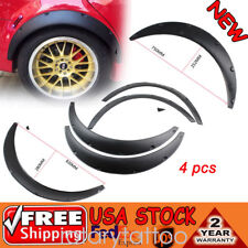 Universal Black Fender Flares Polyurethane Flexible Durable 75cm Auto Car Kit (Fits: Scion xA)