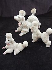 Set of 3 Confetti Poodles MCM Japan White with Pink and Gold