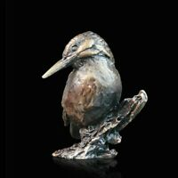Kingfisher Solid Bronze Foundry Cast Sculpture Michael Simpson [2078]