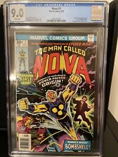 Nova #1 CGC 9.0 VF+/NM- WHITE PAGES First Appearance and Origin of Nova 1976