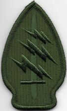 Green Army Special Forces Command SSI Patch VELCRO BRAND Hook Side