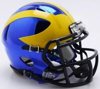 MICHIGAN WOLVERINES RIDDELL CHROME ALTERNATE SPEED FOOTBALL MINI HELMET 8055090
