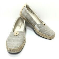Women's Grasshoppers Ortholite Sparkle Beige Comfort Loafers Size 6.5 M