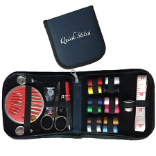 Quick Stitch Mini Travel Sewing Kit with All Basic Sewing Supplies in a Navy Blu
