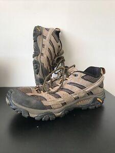 Merrell Men's Moab 2 Ventilator Walnut Size 9.5 Wide Hiking Boots J06011W