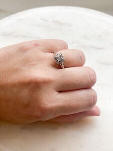 zales square diamond promise ring. Size 7
