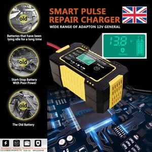 Smart Automatic Car Battery Charger Jump Starter Pulse Repair 12V 24V AGM/GEL UK